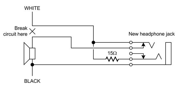 electrical wiring diagrams break circuit and stereo jack