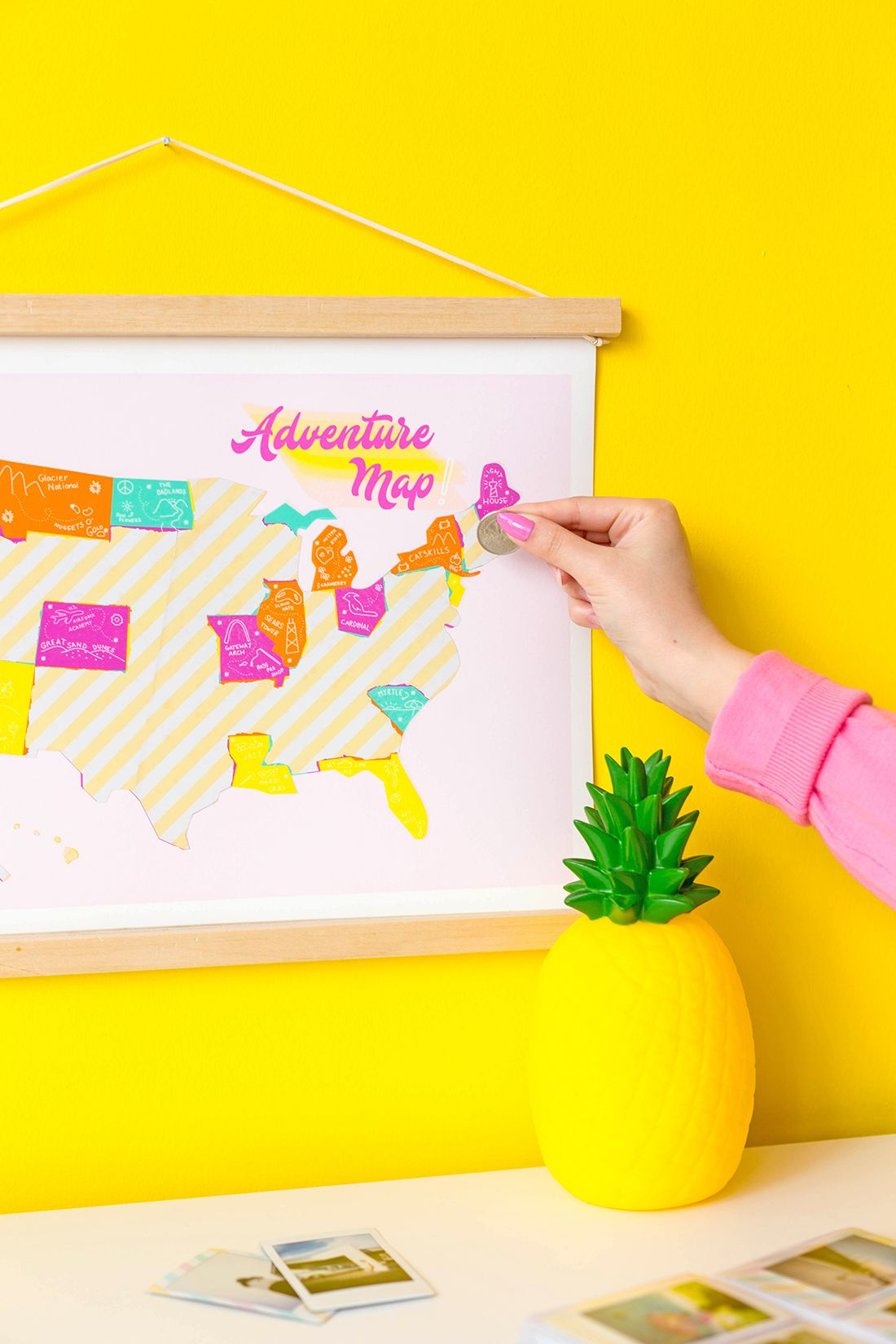 DIY Scratch Off Travel Map + Printable
