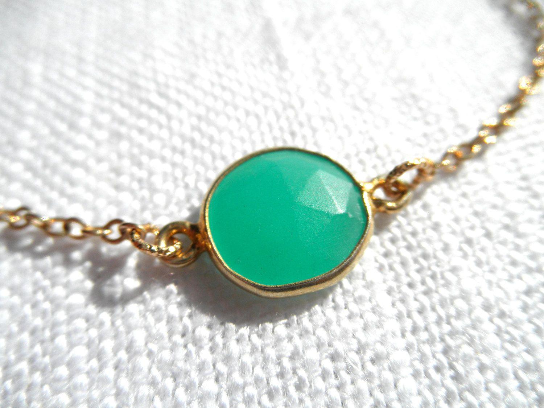Green Chalcedony bracelet.
