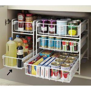100均diy キッチンのシンク下のアイデア収納術 棚すのこ ボックス