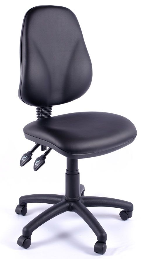 Juno Vinyl High Back Operator Chair | Computer Chairs By Relax .
