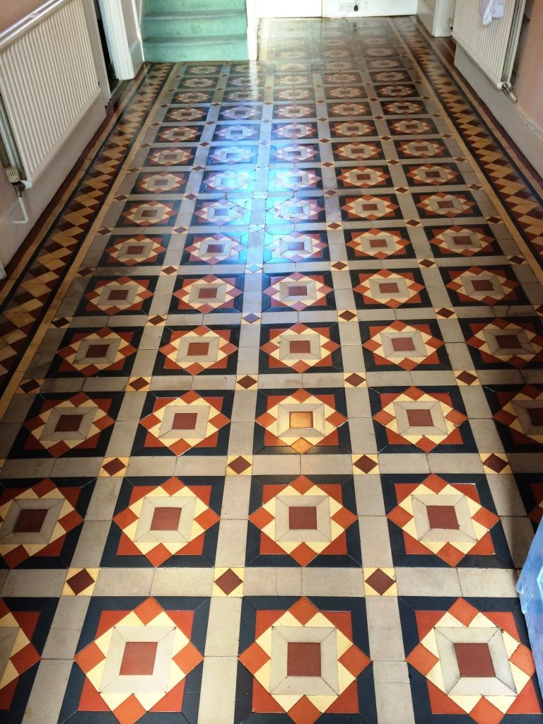 Original Victorian Tiles Melksham After Cleaning And Sealing My