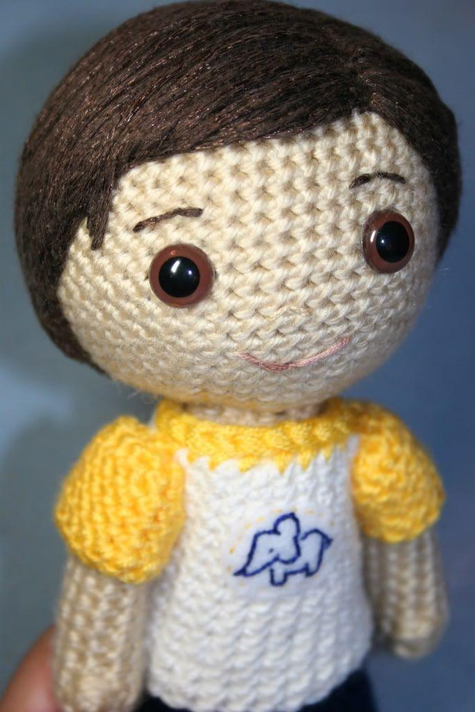 Amigurumi Doll Hair Tutorial : Amigurumi boy with a link to hair tutorial