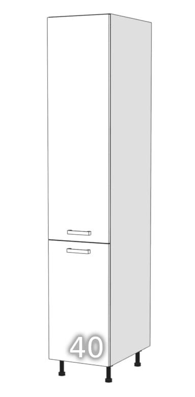 GLOSS Two-door standing wardrobe 40 (Opening side: right …