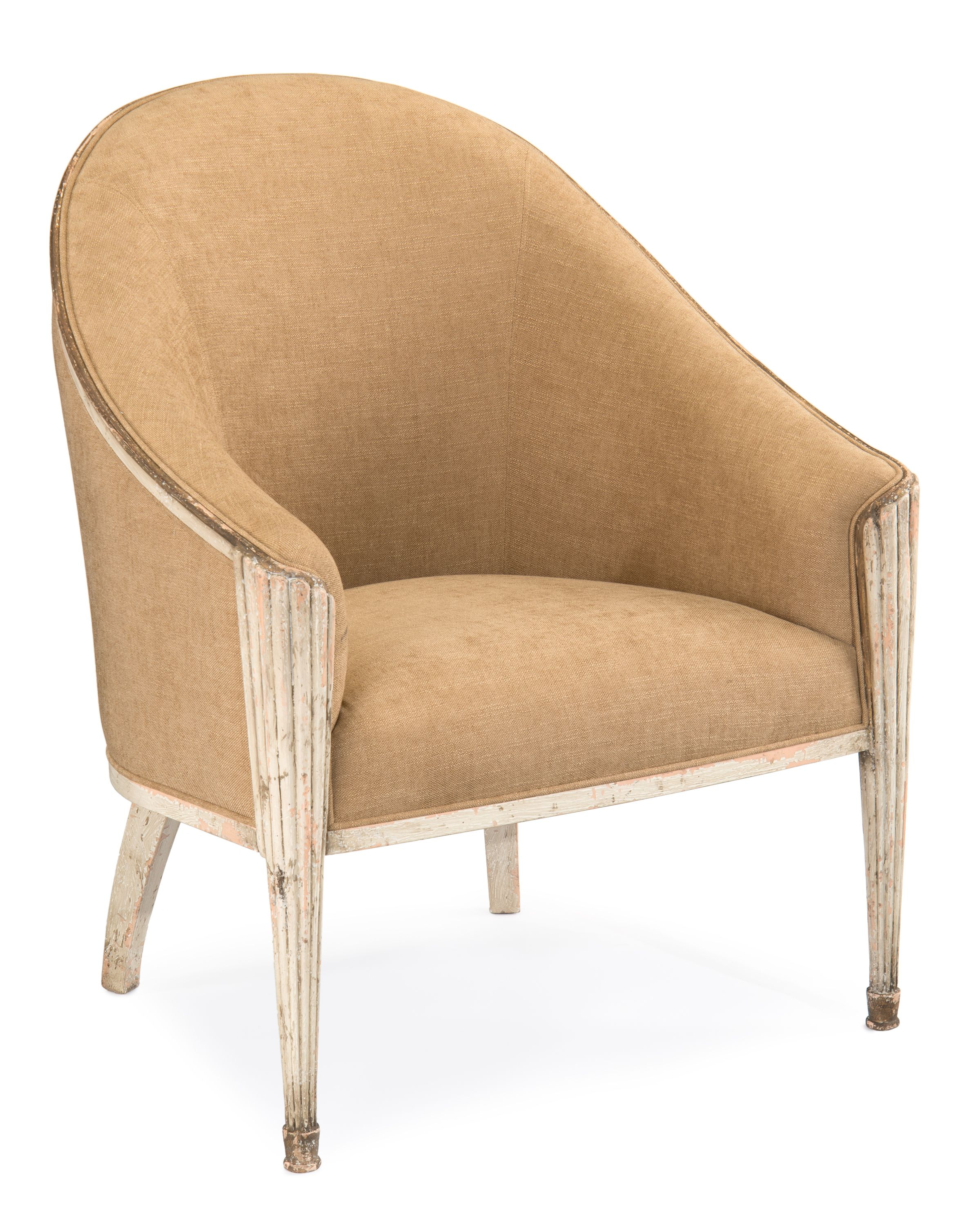 "John-Richard Fannie Bergere arm chair in Candella Ristica (Candlestick) finish . Seat 21.5""H, Arm 29.5""H, Leg 14""H #HPmkt"