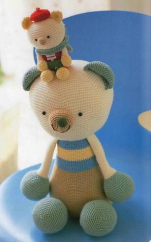 Urso de Cachecol Articulado no Elo7 | De Mãe para Filha Artesanato ... | 477x298