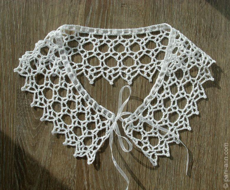 Вязание крючком схемы для начинающих воротничок
