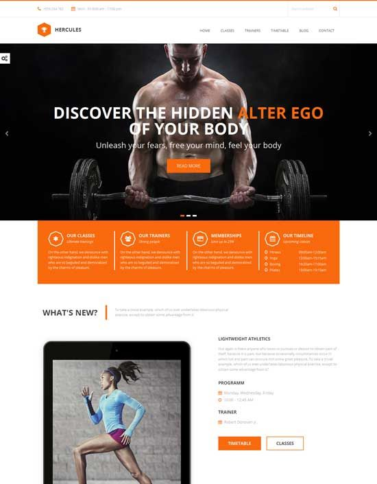 Hercules-Gym-Fitness-HTML-Template | Reussir tous ensemble 31 ...