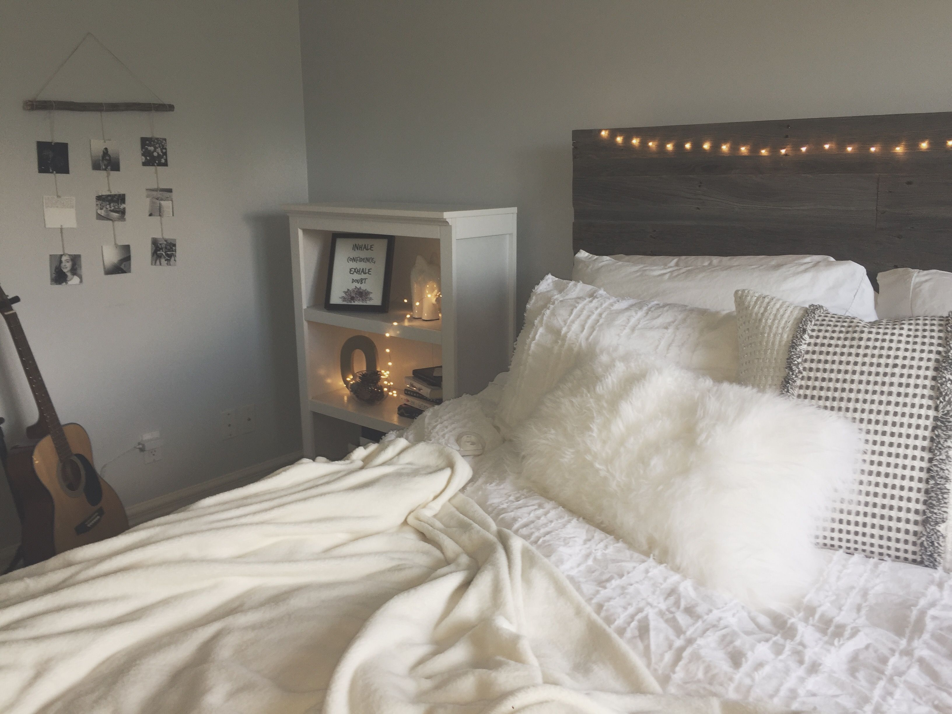 my bedroom roomdecor tumblr fairylights grey