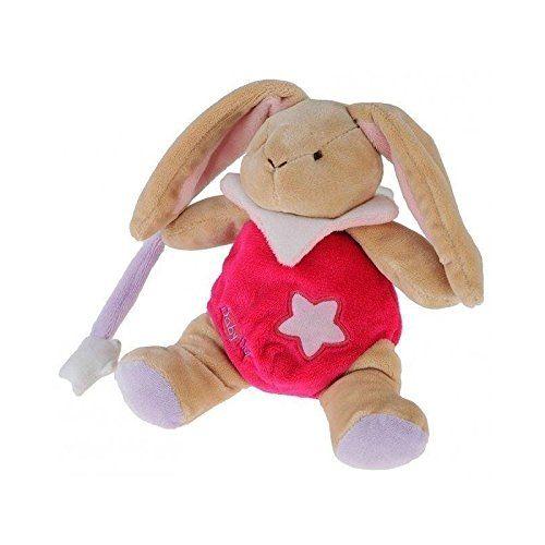 Babynat lapin rose etoile luminescent BN794: Modèle : Lapin - Collection : Les pantins lumiescents étoile Doudou lapin brille dans le noir…