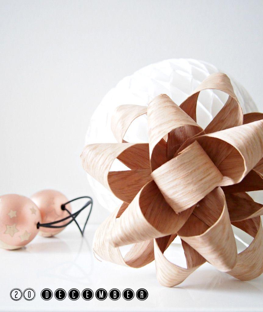 DIY Large Verneer Gift Bow Christmas Decoration