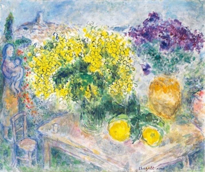 Marc Chagall - Bouquet de mimosas, 1975.