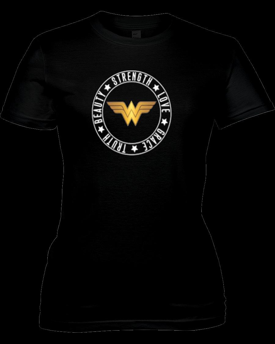 Wonder Woman Strength, Love, Grace, Truth, And Beauty V Neck Women's T Shirt Wonder Woman Strength, Love, Grace, Truth, and Beauty V Neck Women's T Shirt Blouses and Tops vintage wonder woman shirt