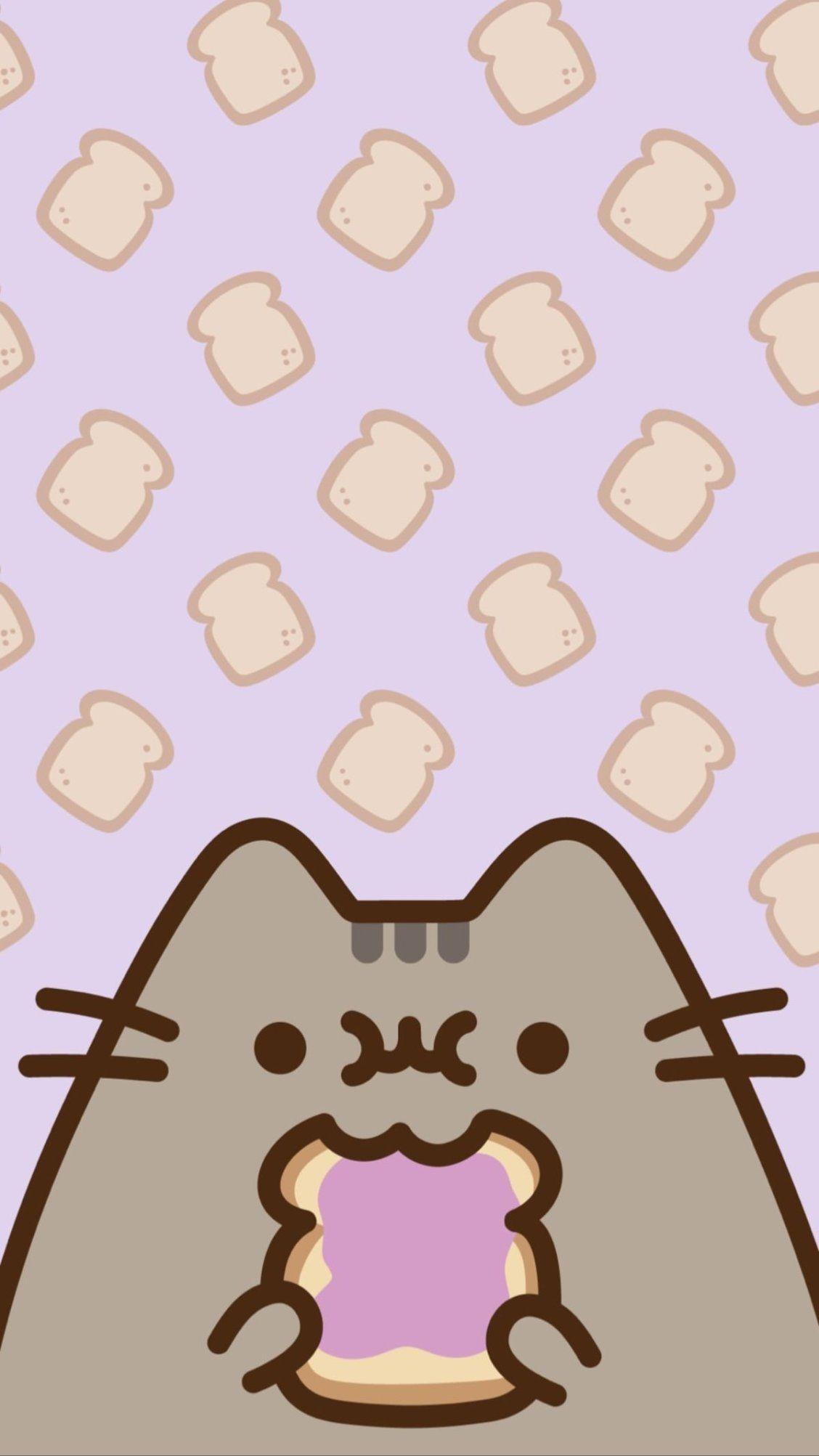 Tall Toast Pusheen Cute Pusheen Cat Kawaii Wallpaper
