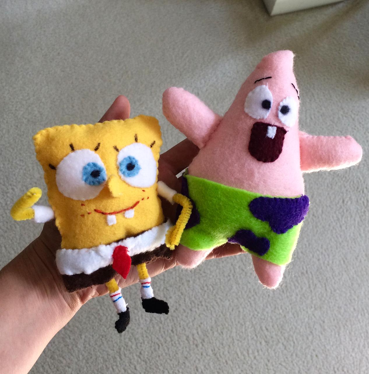 mmmcrafts: Spongebob softies by Thing 2