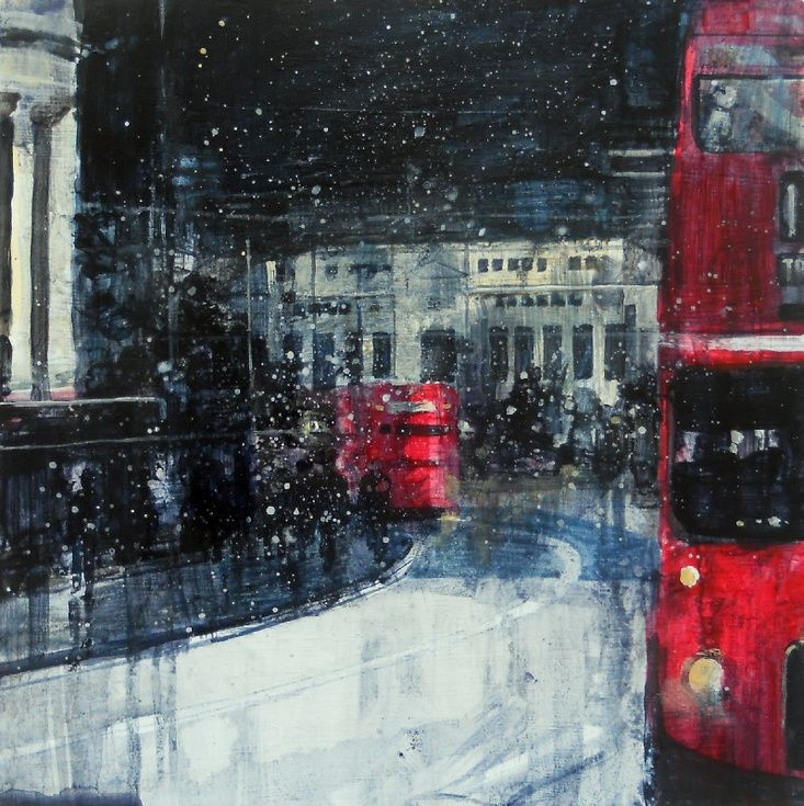 ARTFINDER: St Pauls with buses by Julian Sutherland-Beatson - Part of my ongoing cityscapes project