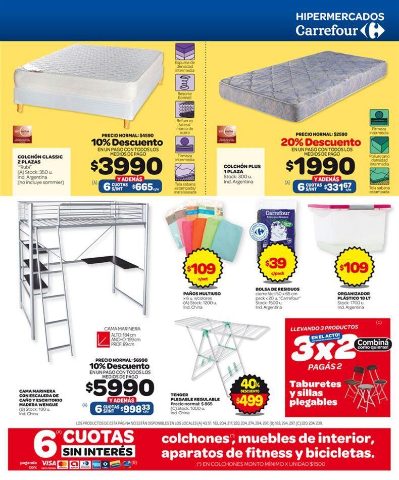 Catalogo De Ofertas De Carrefour Somier Plegables Y Colchones