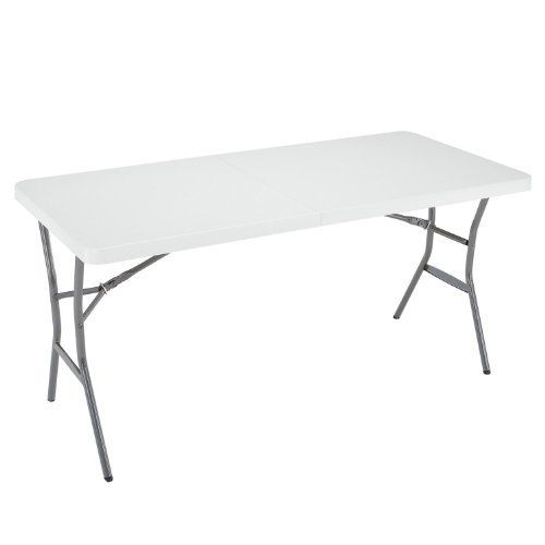 Lifetime 5 Foot Light Commercial Fold In Half Table White Granite Folding Table White Granite Fold In Half Table