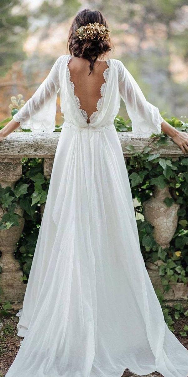 Boho Wedding Dresses With Sleeves