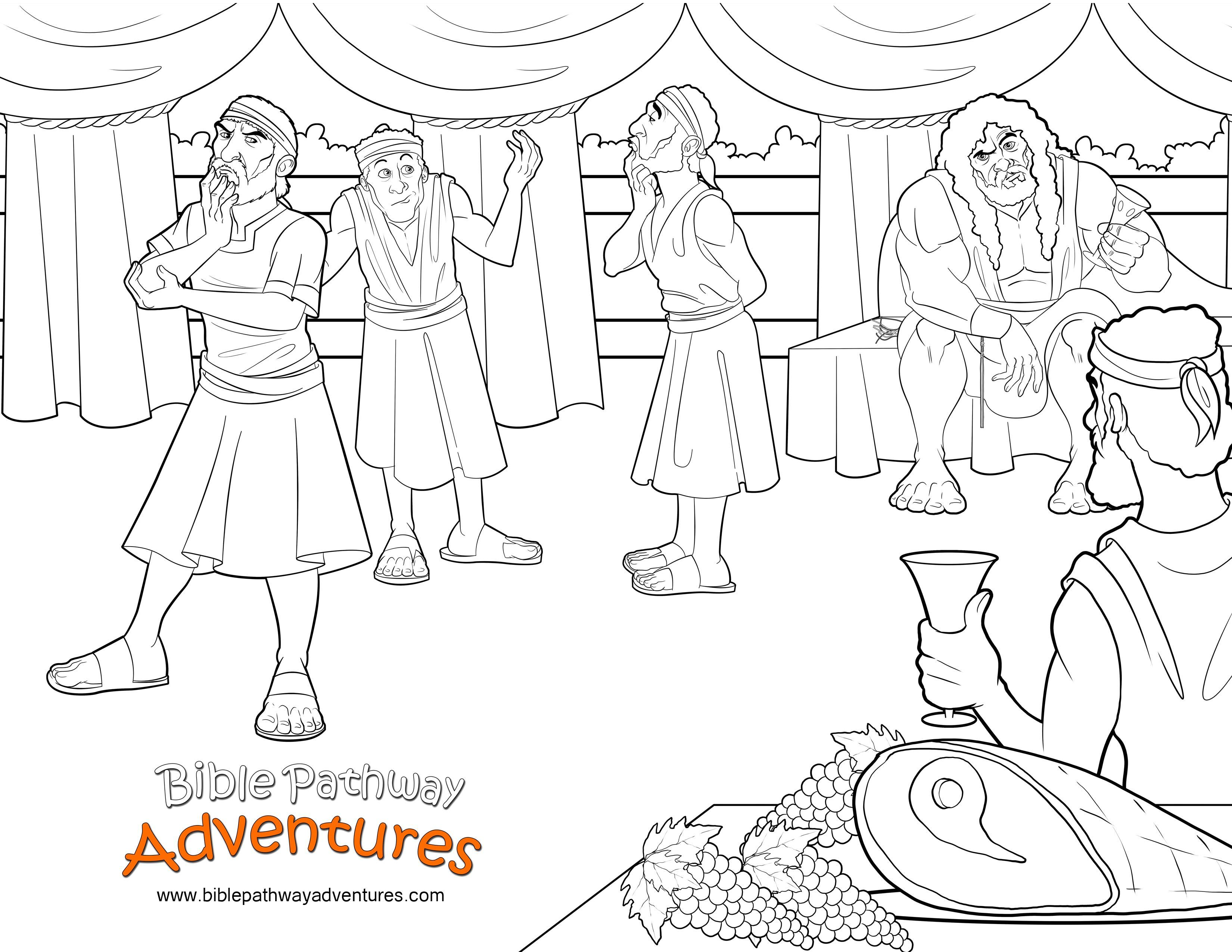 Bible Coloring Page Samson And The Riddle