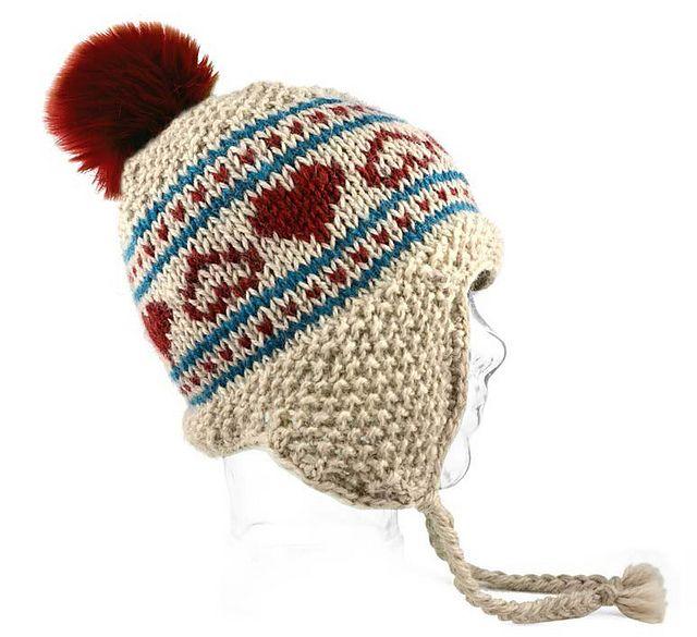Ravelry: Lovey Dovey Ear Flap pattern by Universal Yarn | Hats ...