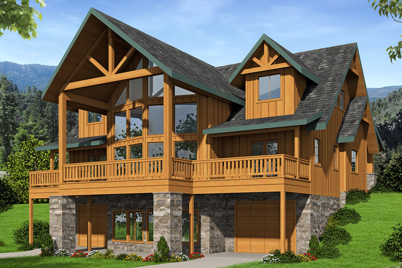 Craftsman Style House Plan 3 Beds 2 5 Baths 2473 Sq Ft Plan 117 886 Craftsman Style House Plans Craftsman House Plans Sloping Lot House Plan