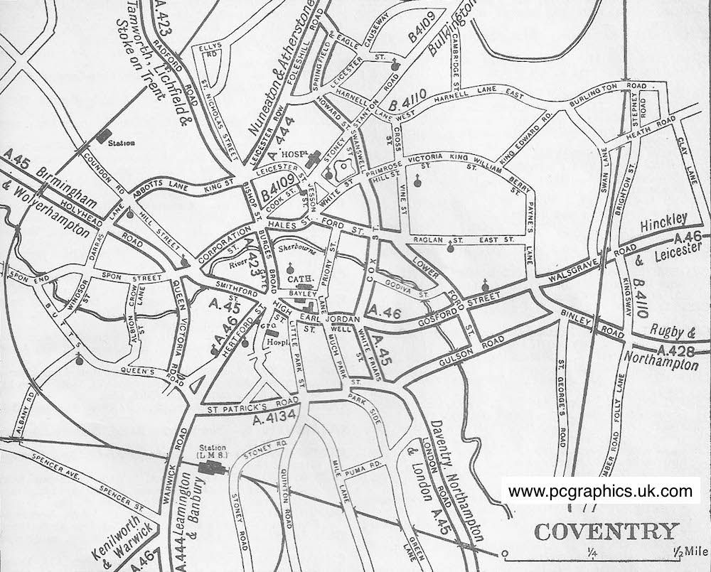 Coventry District Map Where I started Pinterest Coventry