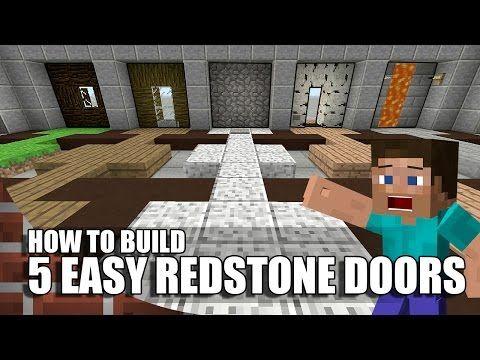 5 Easy Ways To Build Redstone Doors In Minecraft Youtube