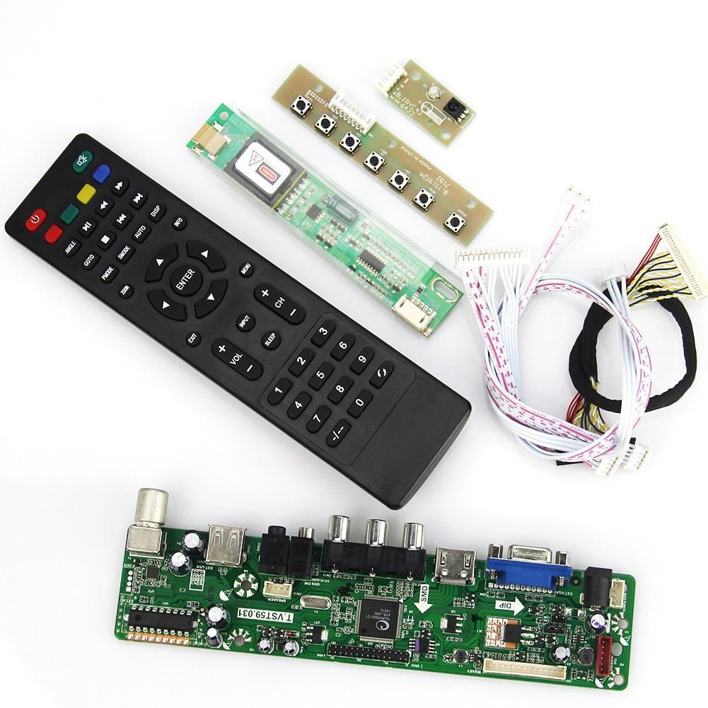 (Buy here: http://appdeal.ru/1jg1 ) T.VST59.03 LCD/LED Controller Driver Board For N154I3-L03 B154EW04 (TV+HDMI+VGA+CVBS+USB) LVDS Reuse Laptop 1280x800 for just US $35.95