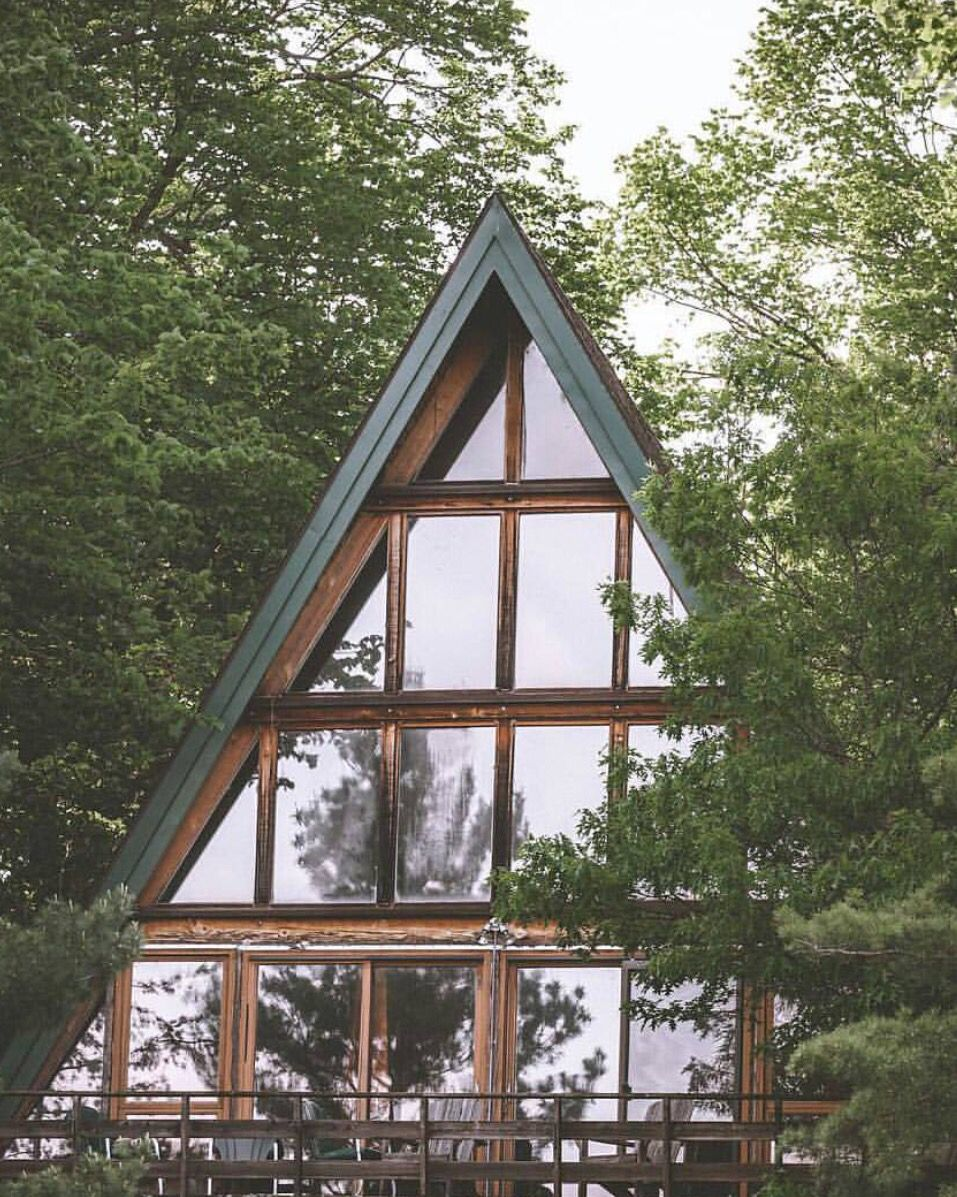 Pin by L B on CABIN (With images) A frame cabin, Forest