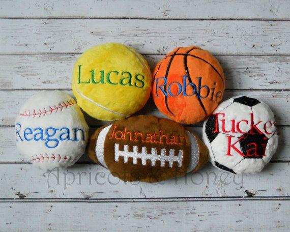 Minky Plush Sport Balls by ApricotsNHoney on Etsy, $8.75