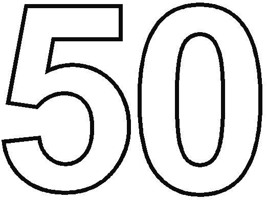 Number 50 Coloring Page Birthday Coloring Pages Coloring Pages Printable Numbers