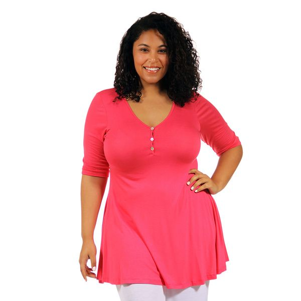 4b66f7f66b4 24 7 Comfort Apparel Women s Plus Tunic Top - Overstock™ Shopping - Top  Rated 24 7 Comfort Apparel Tops