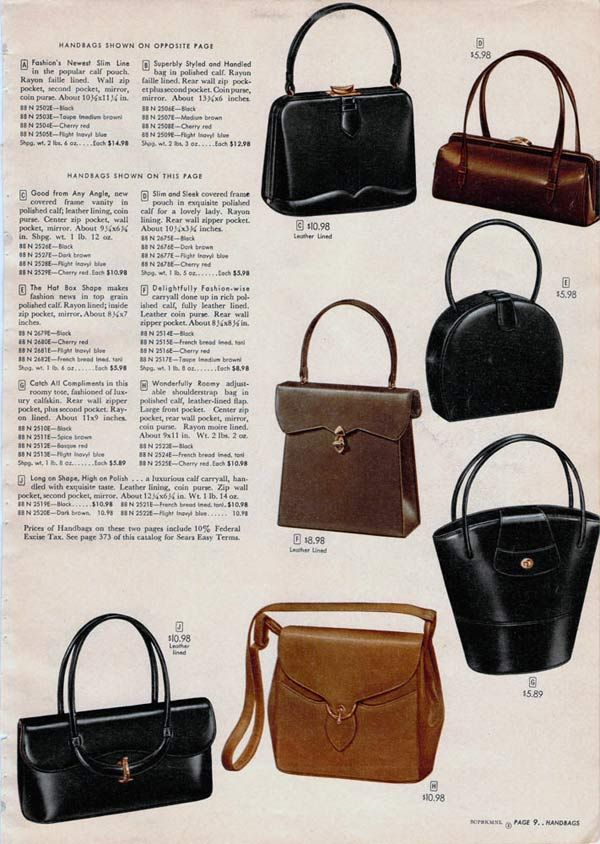 9d14d1372fad The materials used for purses in the 1950s were much more varied than they  are today. Description from retrowaste.com. I searched for this on  bing.com/ ...