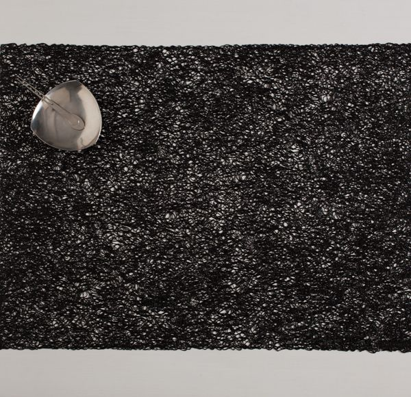 Chilewich New Collection A New Modern Lace Rectangle Placemat In Black Scribble Chilewich Placemats Black Vinyl