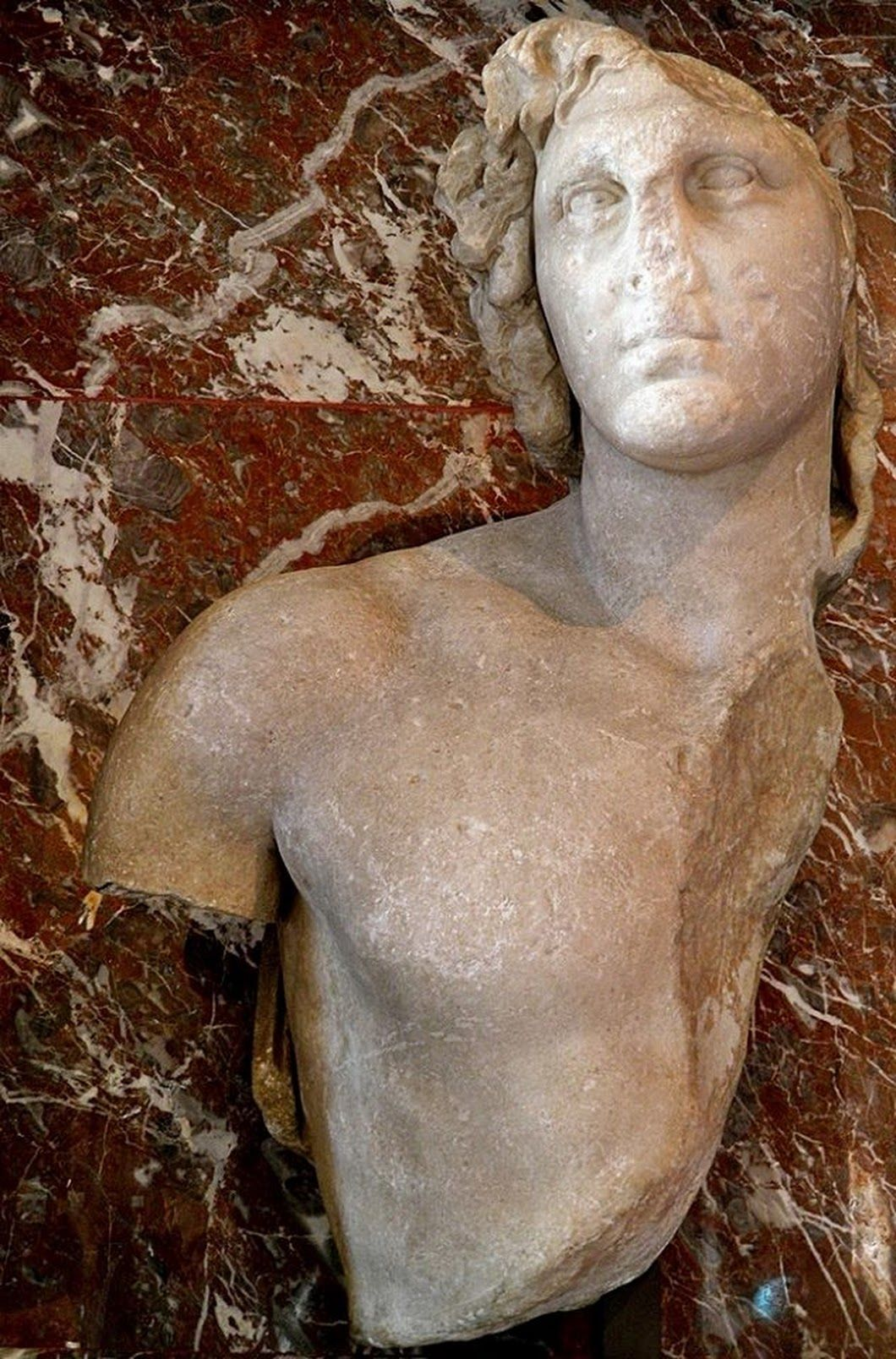 """Bust of Alexander the Great, known as the """"Inopos"""", from Delos, Louvre Museum  Circa 100 BC,Delos,Cycladic islands (Greece)  http://www.louvre.fr/en/oeu... - John Trikeriotis - Google+"""