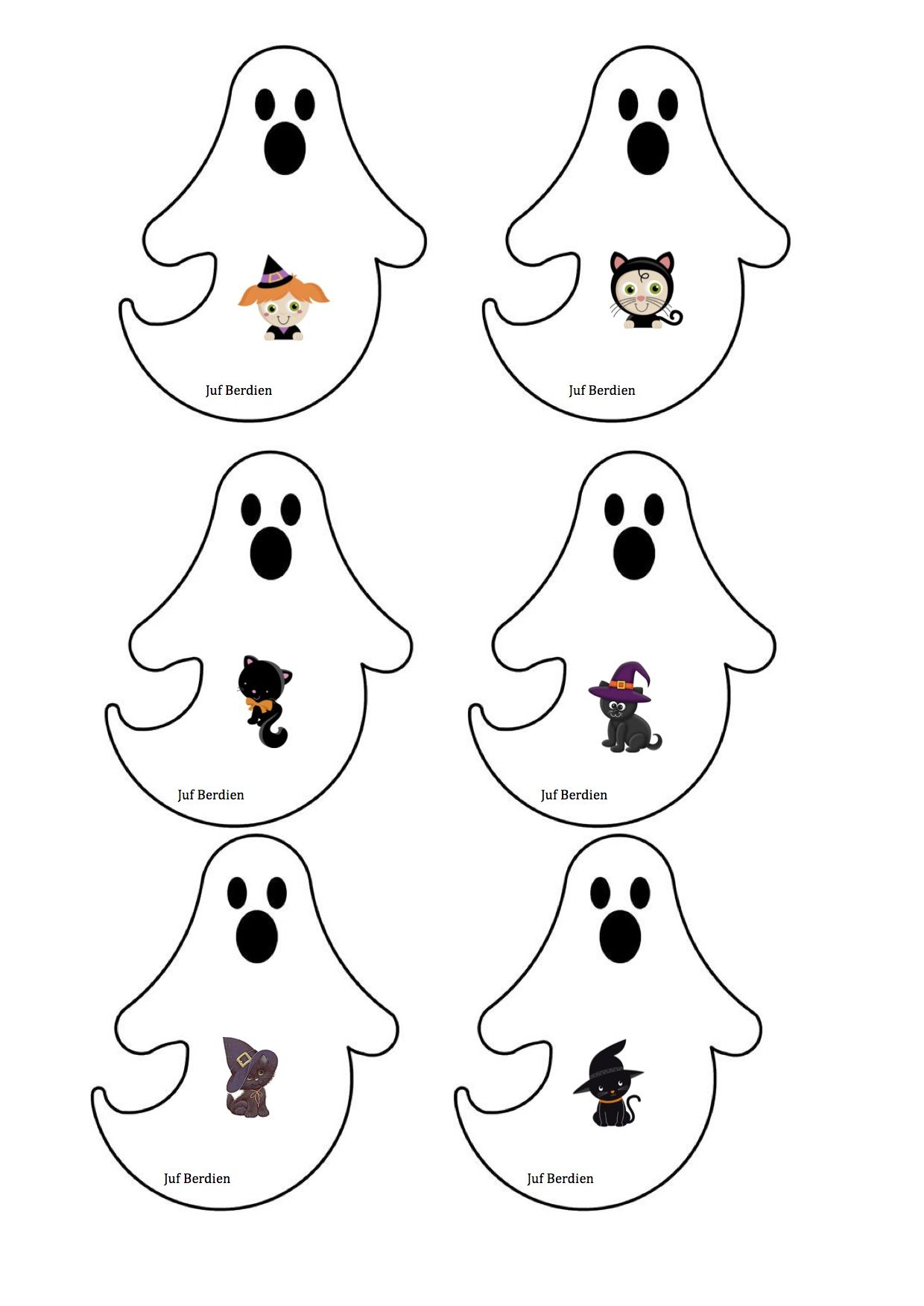 Spookjesspel Juf Berdien 2 Kaartjes Thema Halloween Griezelen Volledige Spel Facebookgroep Juf Berdien Halloween Spelletjes Thema Halloween Activiteiten