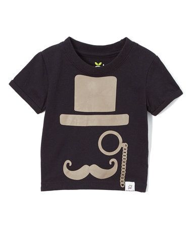 This Black & Gray Fancy Mustache Tee - Infant & Toddler is perfect! #zulilyfinds