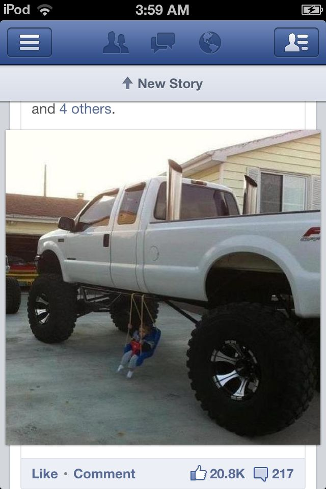 Another use for lifted trucks