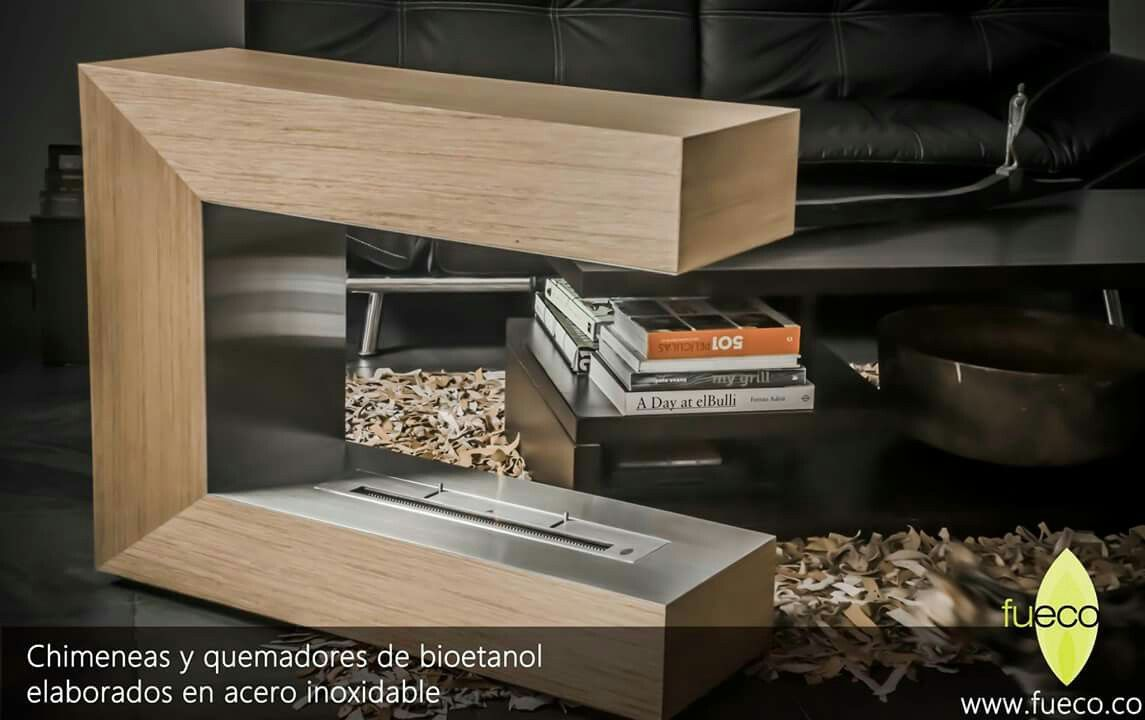 Quemadores y chimeneas de bioetanol marca Fueco. www.fueco.co #Fueco, #bioetanol, #chimeneas, #ecologicas