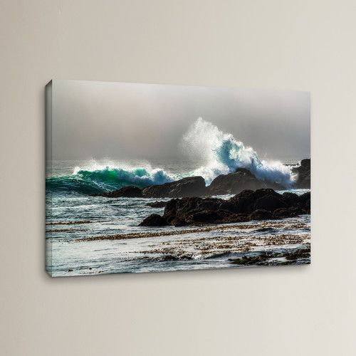 Found it at Wayfair - The Wave, Long Beach Photographic Print on Wrapped Canvas