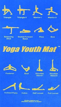 yoga moves right on the mat  yoga for kids yoga moves