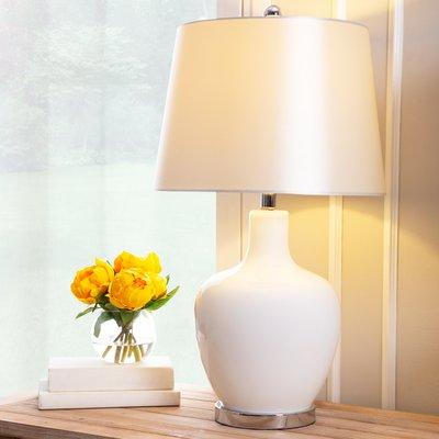 Beachcrest Home Erhart 26 Table Lamp Base Colour White Table Lamp White Table Lamp Grey Table Lamps