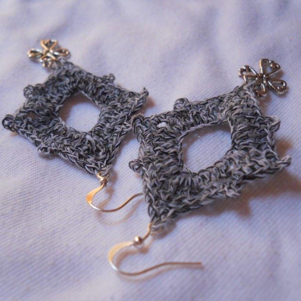 Crochet Diamond Earring #1 | Crochet earrings pattern, Crochet ...