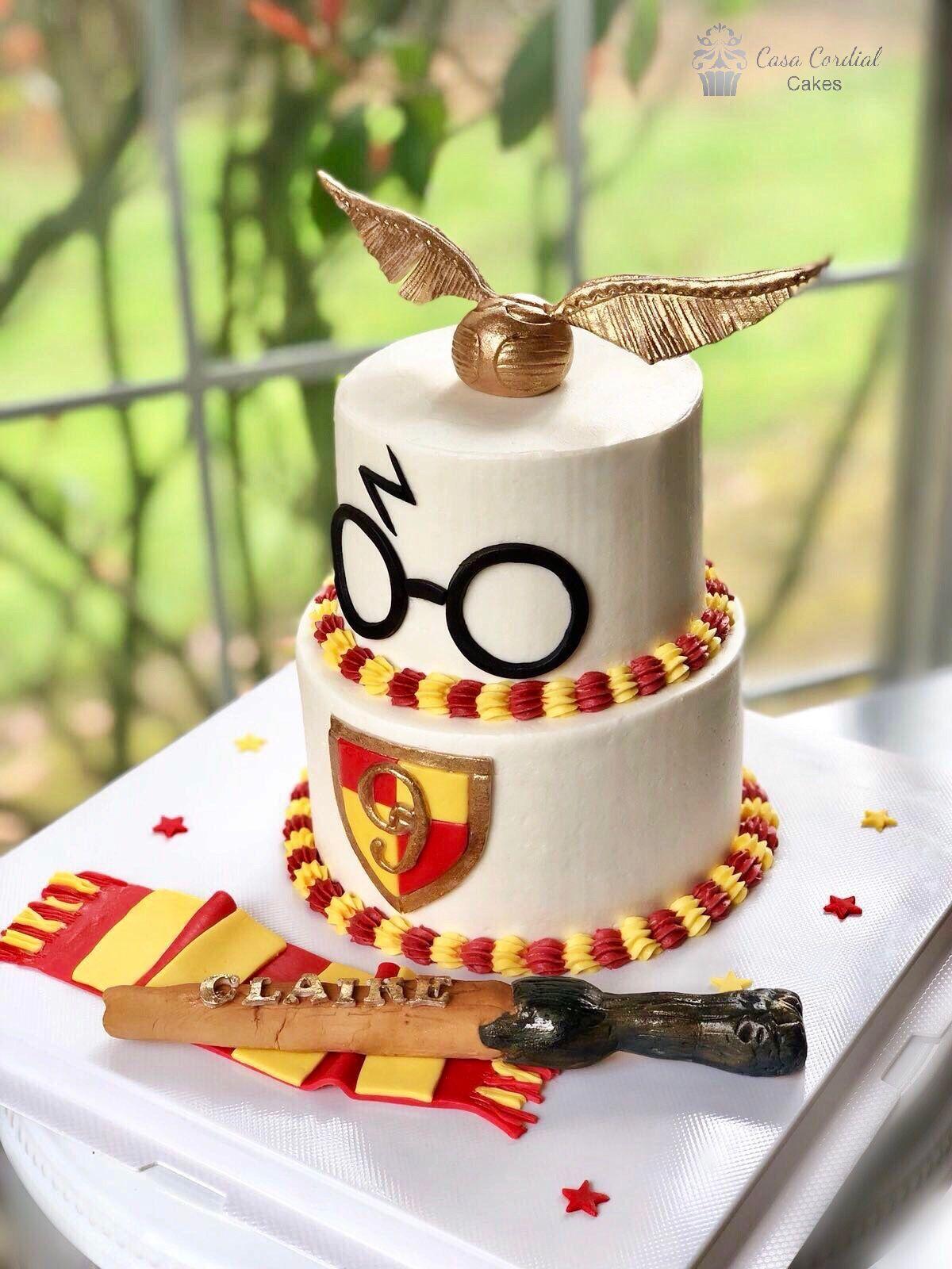 Astonishing Harry Potter Birthday Cake Met Afbeeldingen Verjaardagstaart Funny Birthday Cards Online Elaedamsfinfo