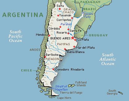 I Live In Argentina For To Months A Year Entrepreneur - Argentina map cities