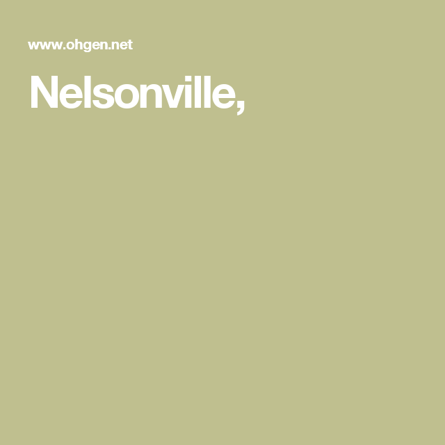 Nelsonville,