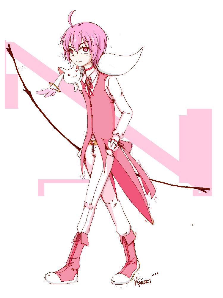 Genderbend Madoka By Makarii D63odtt Png Png Grafik 750 1003 Pixel Skaliert 63 Madoka Magica Anime Puella Magi Madoka Magica