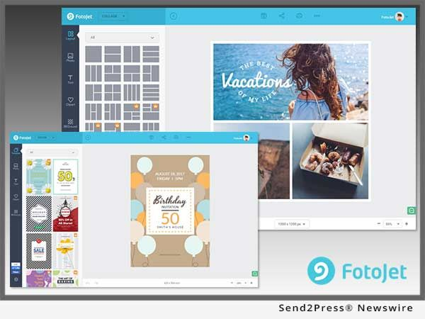 Fotojet Announces Its New Html5 Based Graphic Tool Now Faster And Better Than Ever Online Graphic Design Software Development User Interface