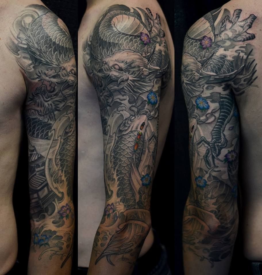 Asian Black and Grey Archives - Chronic Ink   Dragon